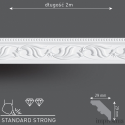 Плинтус потолочный DM291
