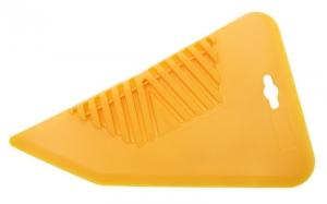 Шпатель для наклеивания обоев 28 см желтый