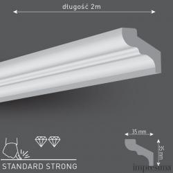 Плинтус потолочный E35