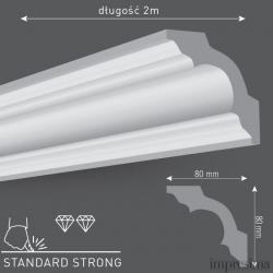 Плинтус потолочный L80