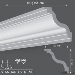 Плинтус потолочный T110