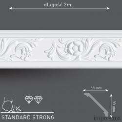 Плинтус потолочный DM552