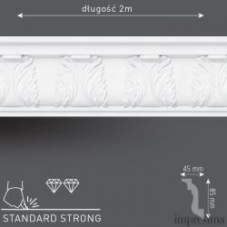 Плинтус потолочный DM901