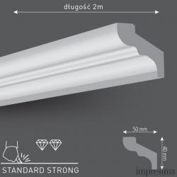Плинтус потолочный F50